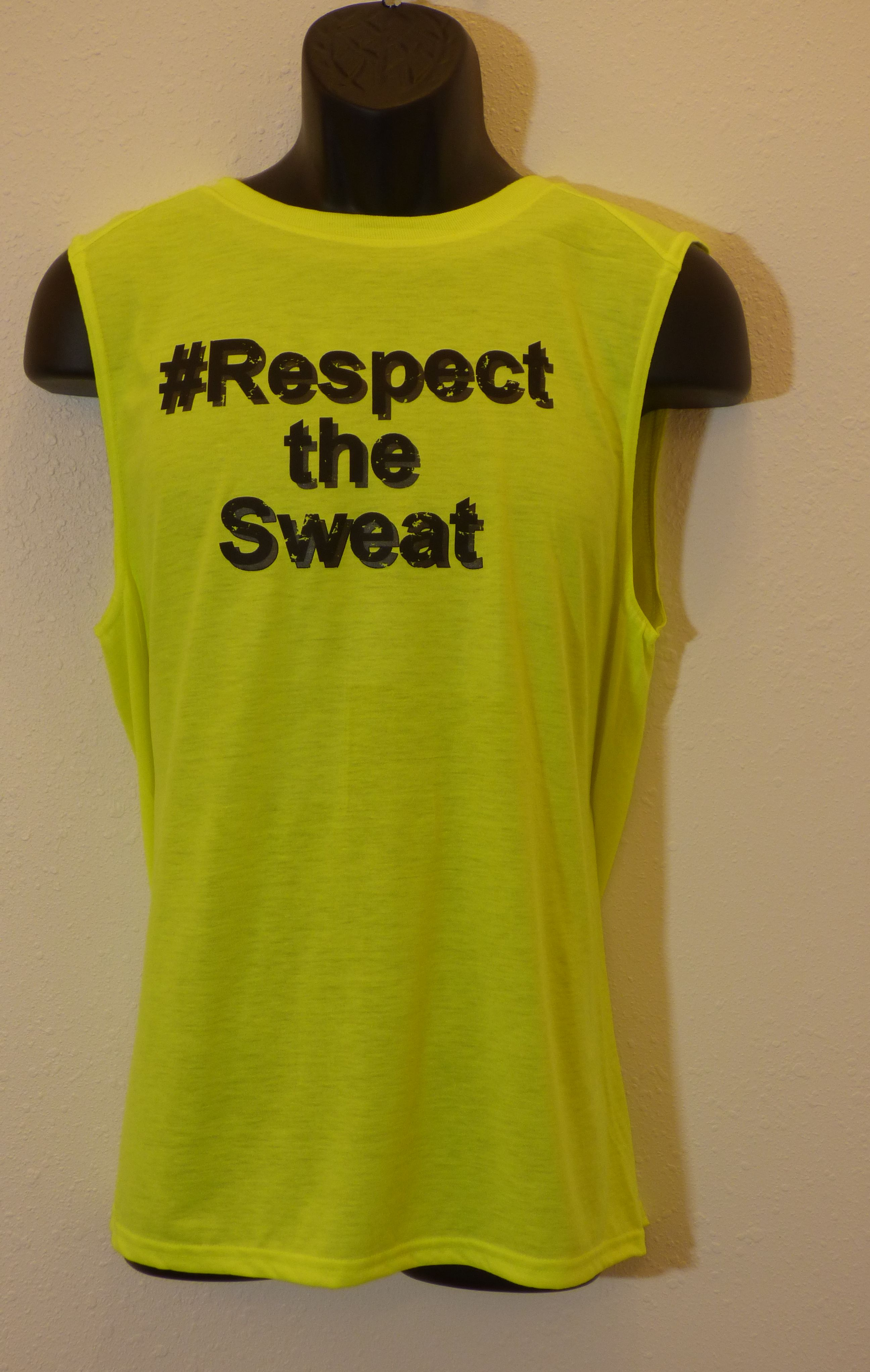 Men's 'Respect The Sweat' muscle shirt