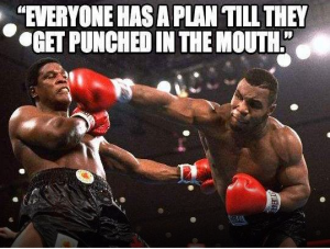 Mike Tyson - Everyone has a plan until they get punched in the face